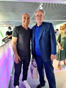 Avec le ministre de la culture Renaud Donnedieu de Vabres