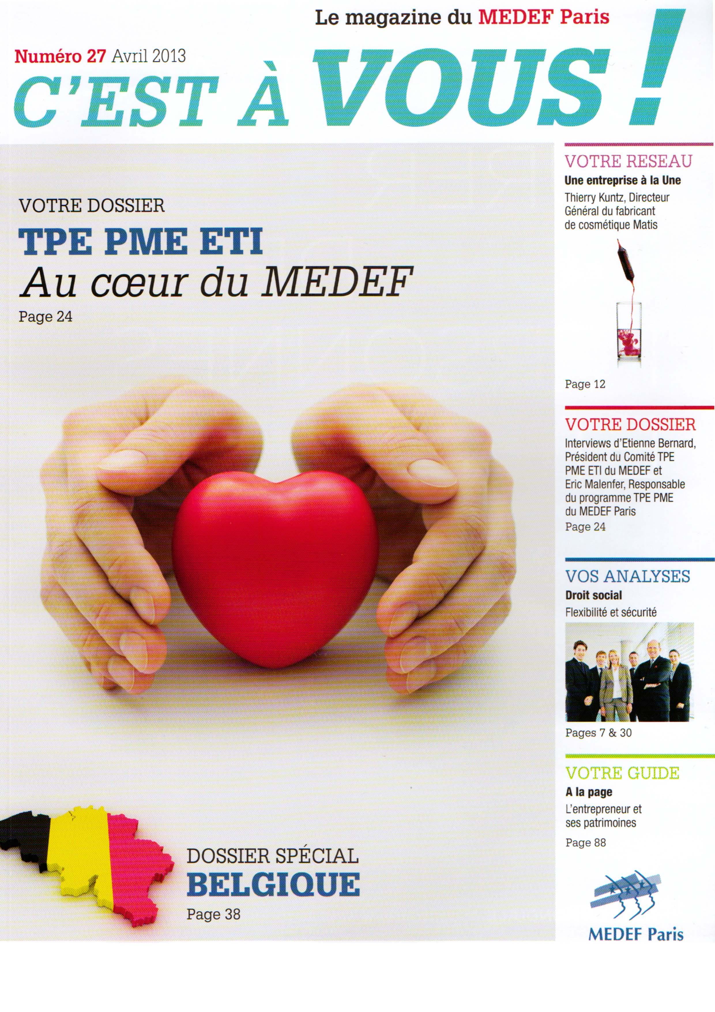 Magazine MEDEF - C'est à vous