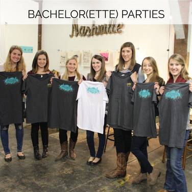 Kick off your weekend with a private workshop in our studio (BYO food and drinks), and everyone can make matching shirts and coozies to wear out on the town.