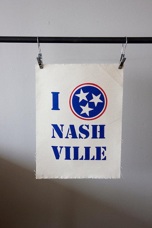 I Love Nashville Print