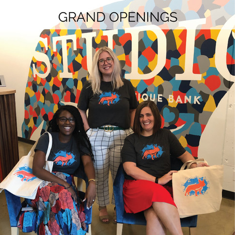 Build awareness through a tangible experience at your grand opening. Turn your customers into walking advertisements with a shirt or tote.