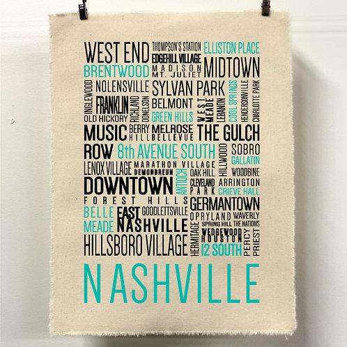 Nashville Neighborhoods Print