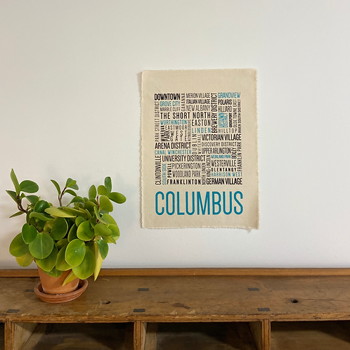 Columbus Neighborhoods Print