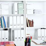 Carpetas de archivo blanco