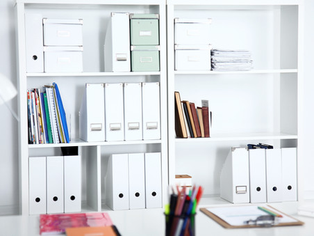 Tip: Vacuum the top of your books, folders and file