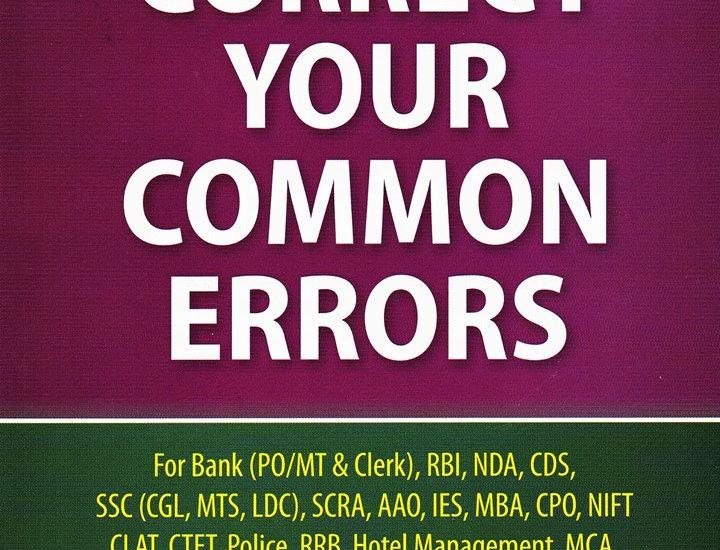 Correct Your Common Errors
