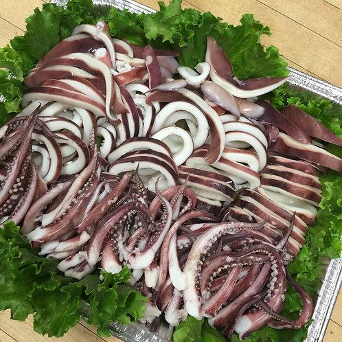 Steamed squid 오징어 초회