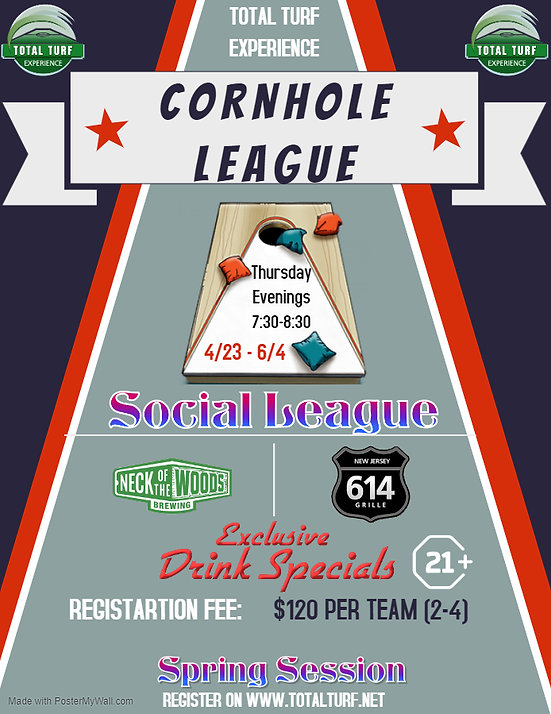 Total Turf Spring Cornhole League