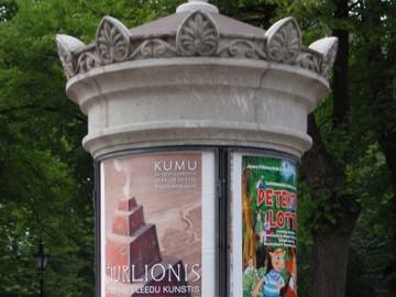 Reklaamtulp Tallinna vanalinnas