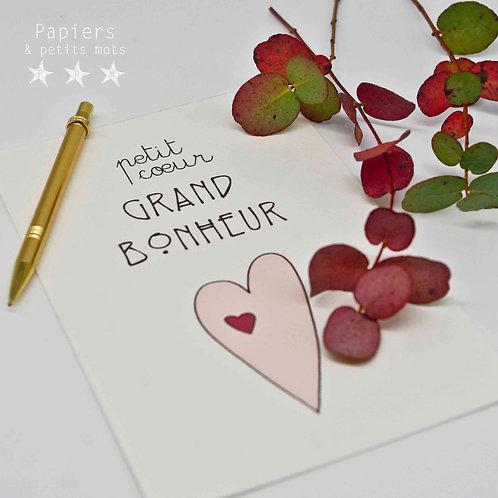 Petit cœur Grand bonheur