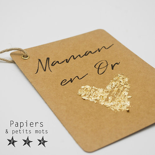 Carte Maman en Or