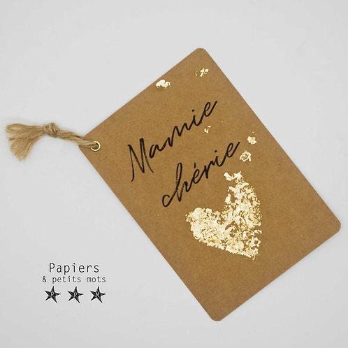 Carte Mamie chérie