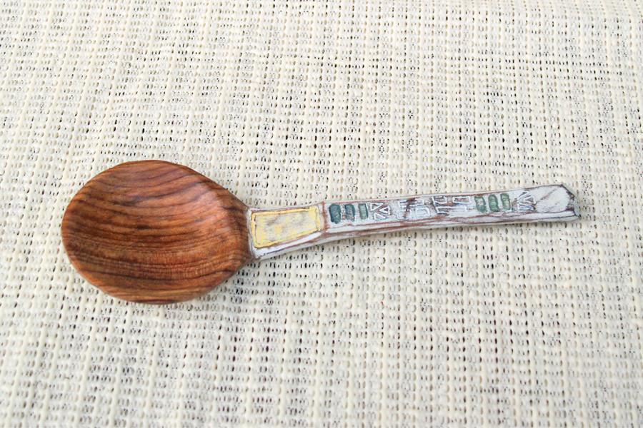 Magnolia Painting Spoon