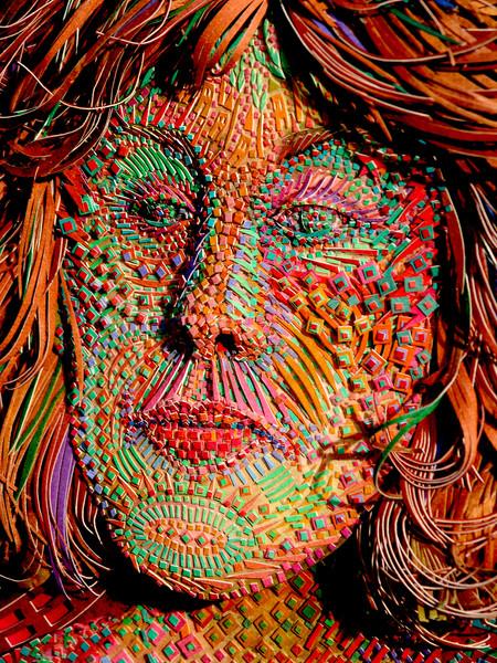 Self Portrait: Hurricane Mask, Detail.