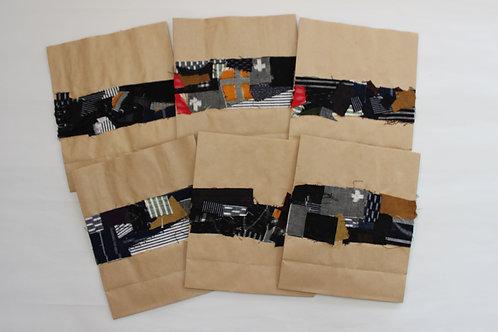 久留米絣ハギレのギフトバッグ