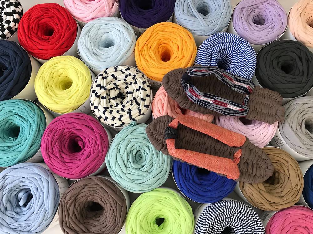 Recycle yarnを使った布ぞうりワークショップのお知らせ
