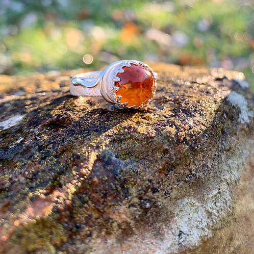Amber crown ring