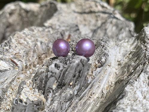 Lilac Pearl Studs