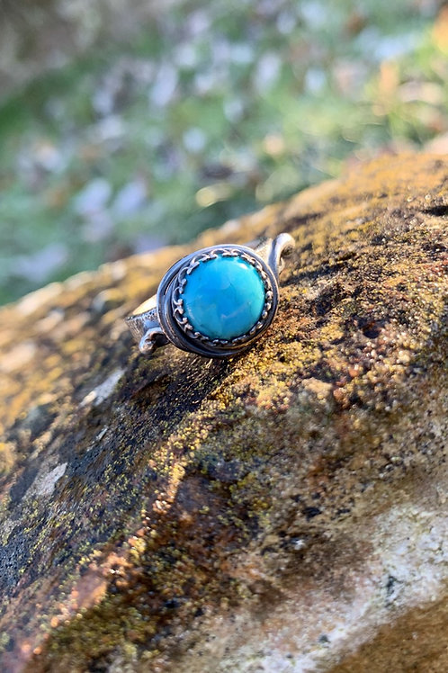 Turquoise crown ring