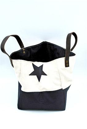 petit sac cabas bleu et blanc