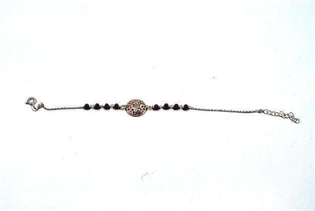 bracelet argent cristaux