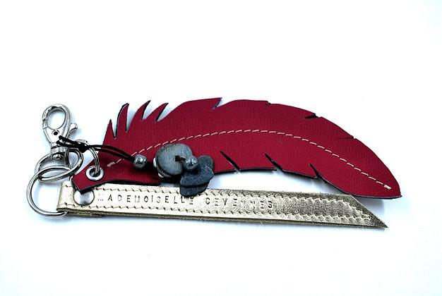 Bijoux de sac cuir rose