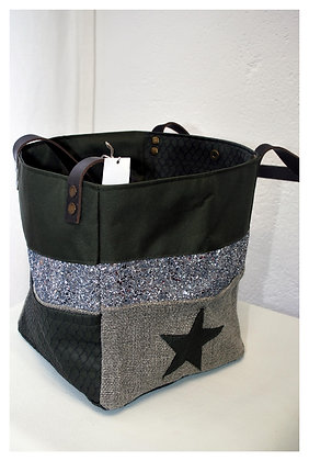 sac cabas lin brillant
