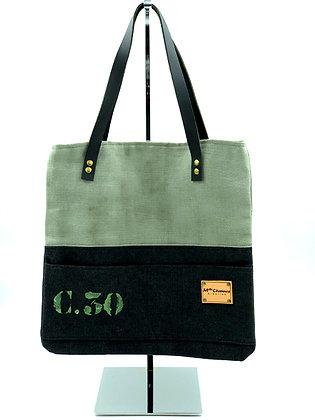 sac à mains C30 lin kaki