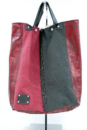 sac a mains rouge et noir