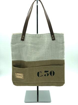 sac a mains C30 lin ficelle