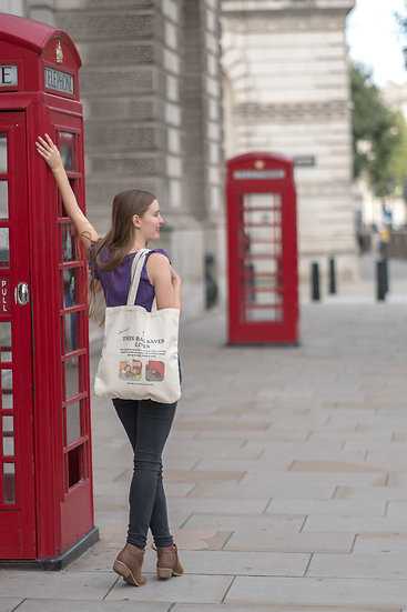 This Bag Saves Lives. A Tote Bag by Wittenhearst