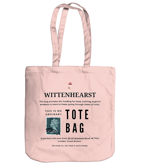 Wittenhearst Tote Bag. A Tote Bag by Wittenhearst - Pastel Pink