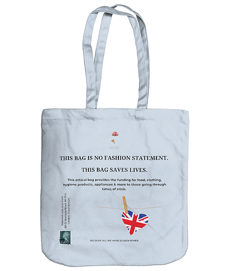 This Bag is No Fashion Statement. A Tote Bag by Wittenhearst. Pastel Blue
