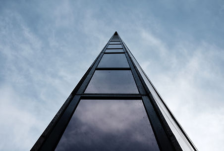 low-angle-shot-tall-modern-architectural