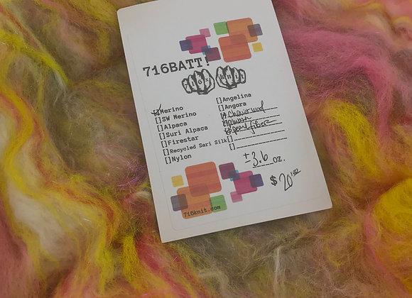 +/- 3.6oz warm colors 716BATT!