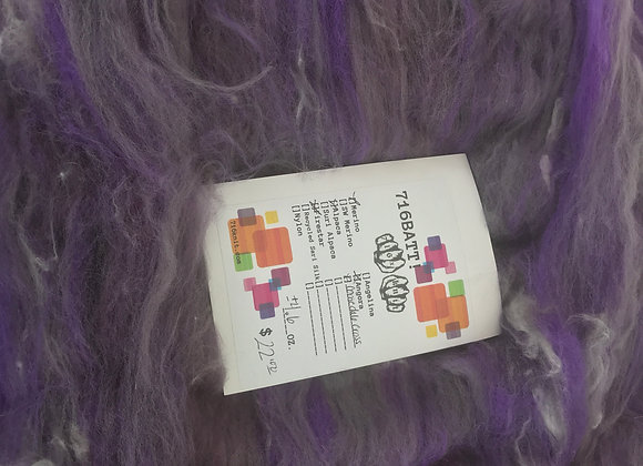 +/- 4.6 oz grey & purple 716BATT!