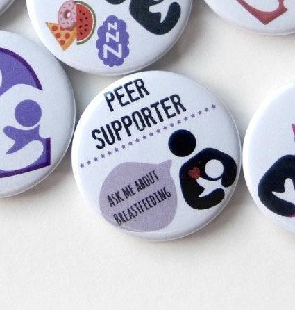 Peer Supporter Keyring/Badge/Magnet