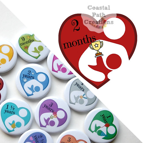 2 Months - Milestone (badge/keyring/magnet)