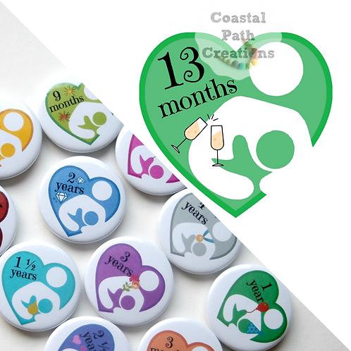 13 Months - Milestone (badge/keyring/magnet)