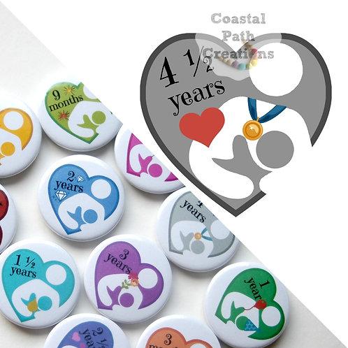 4½ Years  - Milestone (badge/keyring/magnet)