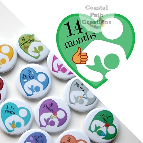 14 Months - Milestone (badge/keyring/magnet)