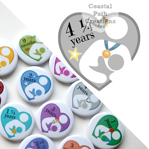 4¼ Years  - Milestone (badge/keyring/magnet)