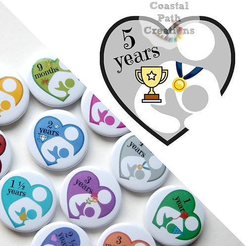5 Years  - Milestone (badge/keyring/magnet)