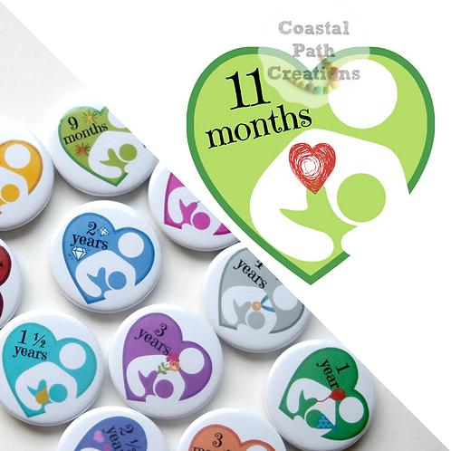 11 Months - Milestone (badge/keyring/magnet)