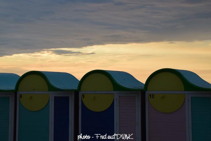 un ton sur ton avec quelques cabines de la plage de Malo les bains