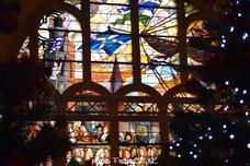Le vitrail de la Mairie - Le retour de Jean Bart