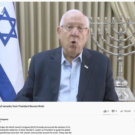 Reuven Rivlin Keynote to the World Jewish Congress