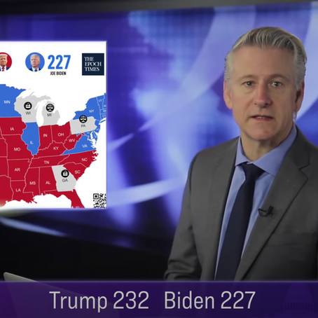 True Electoral Count shows Trump lead Biden with 232-227 w. 6 States under legal challenges