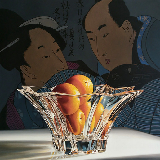 lovers with oranges