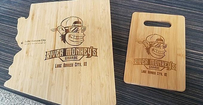 River Monkey's Large Bamboo Cutting Board